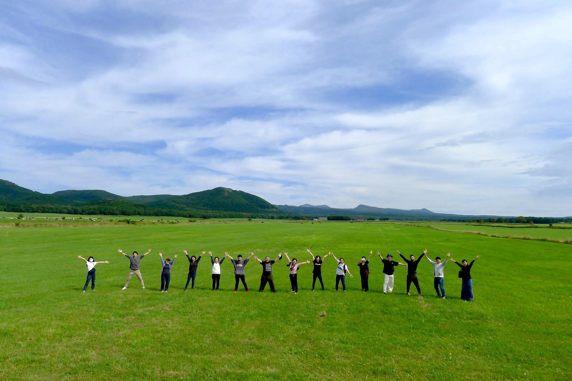 渡辺体験牧場での集合写真
